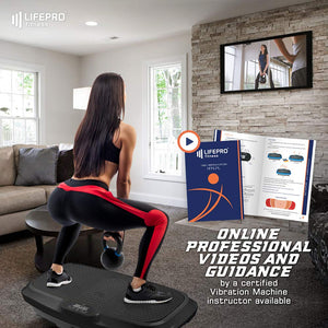 LifePro 3D Vibration Plate Exercise Machine - Dual Motor Oscillation, Pulsation + 3D Motion Vibration Platform | Full Whole Body Vibration Machine for Home Fitness & Weight Loss. (Black)
