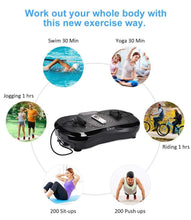 Load image into Gallery viewer, iDeer Vibration Platform Fitness Vibration Plates,Whole Body Vibration Exercise Machine w/Remote Control &Bands,Anti-Slip Fit Massage Workout Vibration Trainer Max User Weight 330lbs (Black09001)