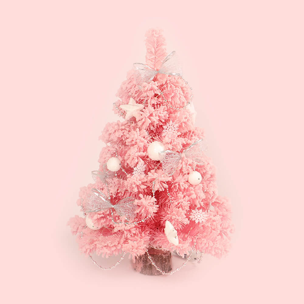 Pink Flocking Christmas Tree DIY Kit