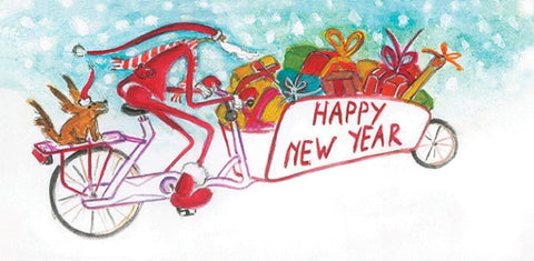 HV happy new year fiets