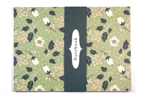 RH A6 olive & pink flowers