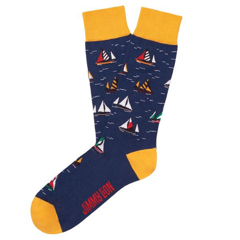 jimmy lion sailboat racing dark blue