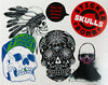 Laurence King stickerboek stickerbomb skulls