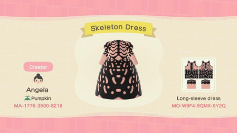 Animal Crossing Skeleton Dress