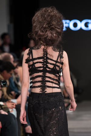 Black Lace Rib Cage Dress