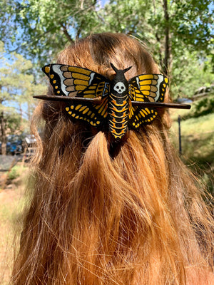 Death Head Moth Hair Slide