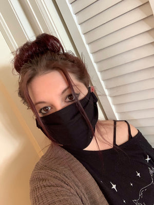 Black Cotton Ninja Face Mask
