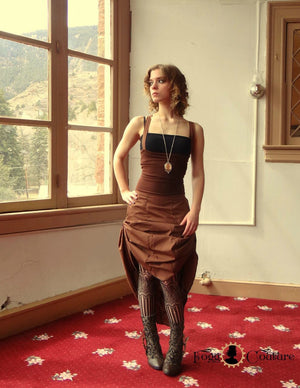 Brown Bustle Dress