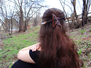 Rose Quartz Crystal Hair Stick