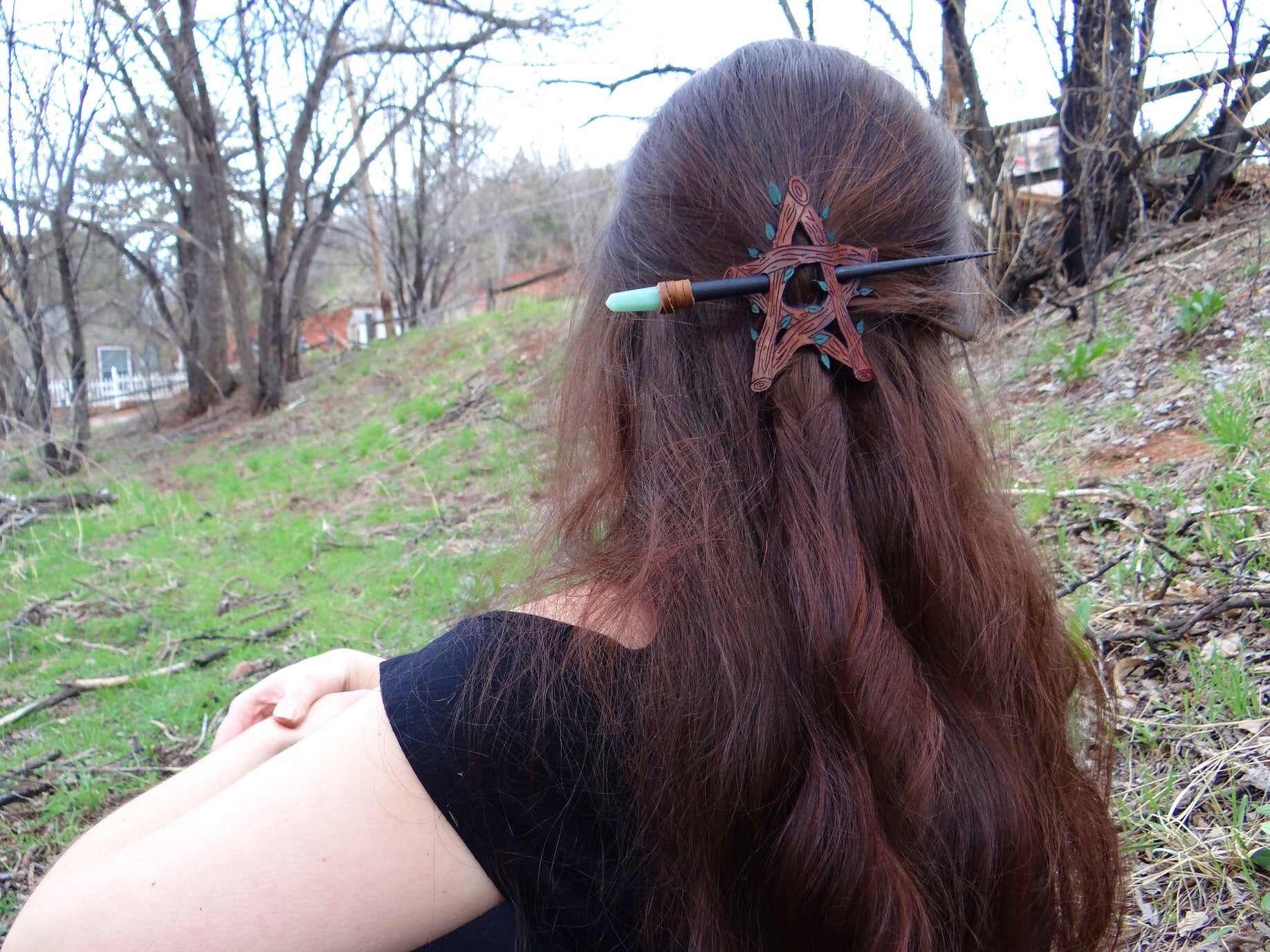 Aventurine Crystal Hair Stick