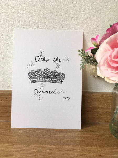 Crowned (Personalised) - A5 Print