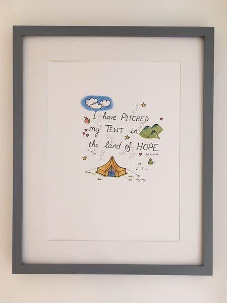 I have Pitched my Tent in the Land of Hope (Original) Framed