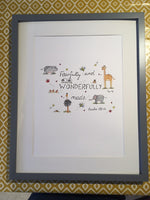 Fearfully and Wonderfully Made (Original) Framed