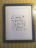 Arise My Darling, My Beautiful One (Original) Framed