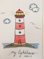 My Lighthouse (Original) Framed