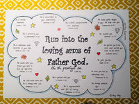Run into the Father's Arms... A3 POSTER