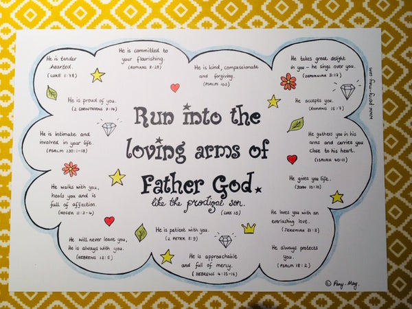 Run into the Farther's Arms... A3 Print