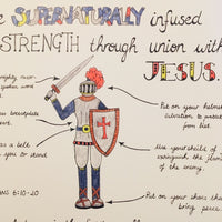Supernatural Strength (Armour of God)... A3 Print