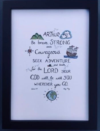 Courageous (Personalised) - Print (unframed)