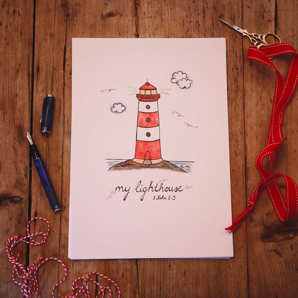 My Lighthouse -  A4 PRINT