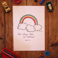 God Keeps His Promises - A4 PRINT