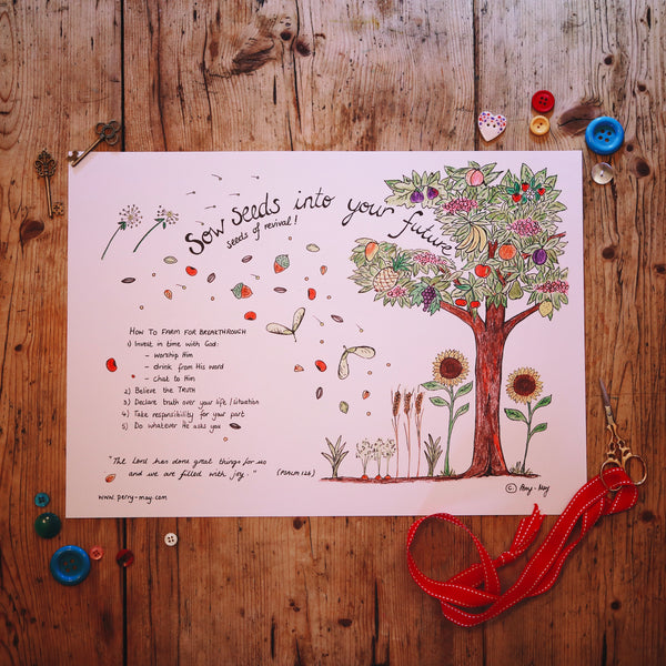 Sow Seeds Into Your Future... A3 Print