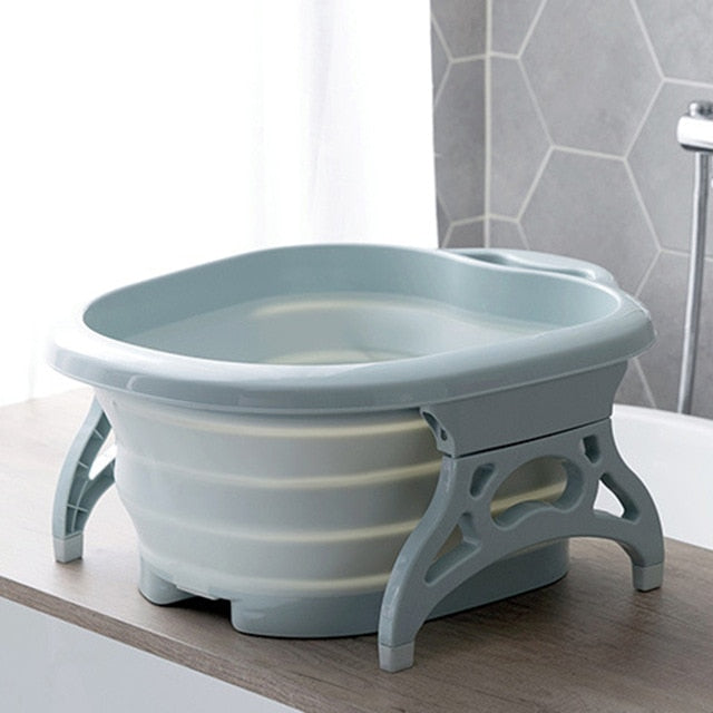 Foldable Footbath with reflex rollers perfect for use with ionic foot baths for detox.