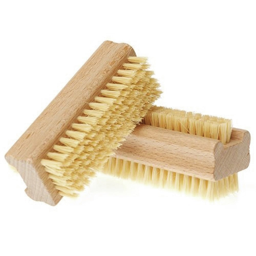 Double Sided Bristle Manicure Pedicure Scrubbing Nail Bath Brush Hand Massage Health Care Dry Skin Exfoliation Remove Brush