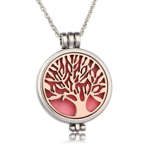 tree of life essential oil diffuser necklaceOpen night light DIY pendant necklaceJewelry  Woman gift