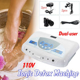 Dual User Detox Ionic Foot Bath Ion Spa Machine Cell Cleanse MP3 Arrays