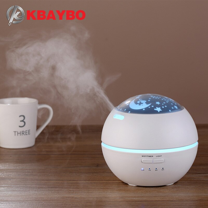 Ultrasonic Air Humidifier Aromatherapy Diffuser with flower Cool Mist Diffusers for Office Home Bedroom Living Room