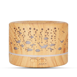 KBAYBO Ultrasonic Diffuser Electric Essential Oil Diffuser Air Humidifier cool mist wood grain 7 colors LED night light home