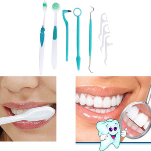 8 Pieces Oral Care Dental Cleaning Kit Whitening Brush