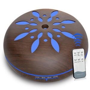 500ml Essential Oil Diffuser wood remote Ultrasonic cool Mist Maker LED Light