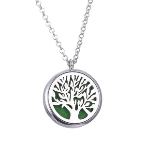 Silver Color tree of life jewelry necklace locket pendant Aromatherapy Essential Oil Diffuser Necklace For Gifts