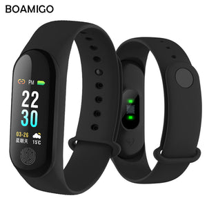 Bluetooth Smart Watch BOAMIGO Smartwatch For IOS Android Phone Unisex Smartband Call Remind Camera Calories Heartrate Wristband