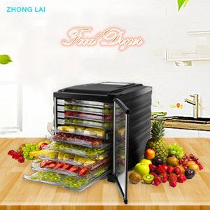 Dehydrators Ten Layers Food Dryer Fruit/Vegetables/Meat Drying Machine