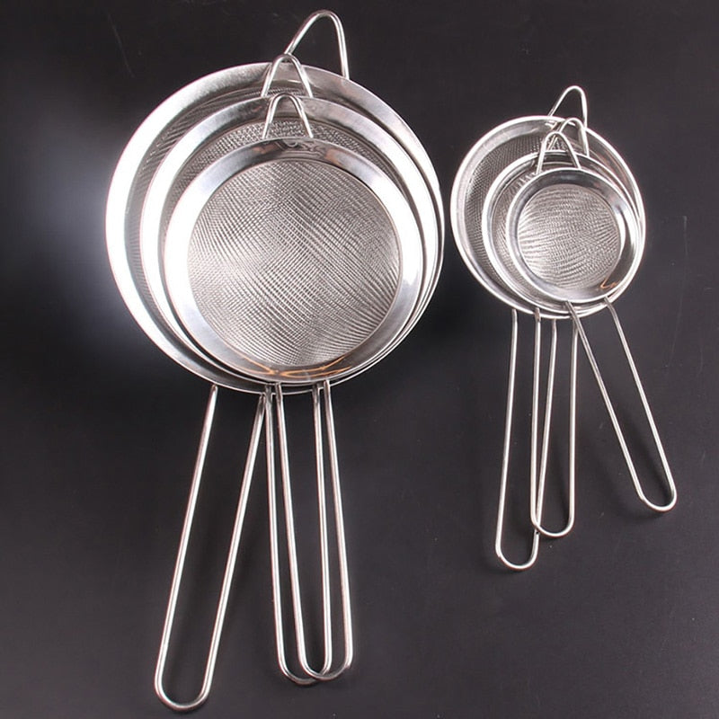 Stainless Steel Wire Fine Mesh Oil Strainer High Quality Flour Sifter Sieve Colanders DIY Kitchen Tools