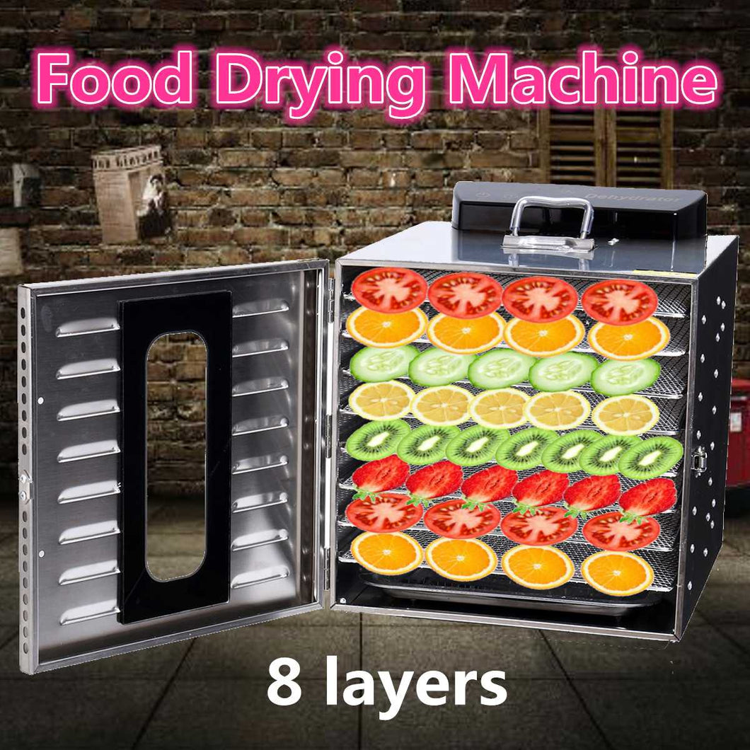 8 Trays stainless Steel Dehydrator Fruit nuts Vegetable Herb Meat dehydrator