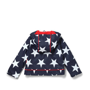Navy Star Raincoat