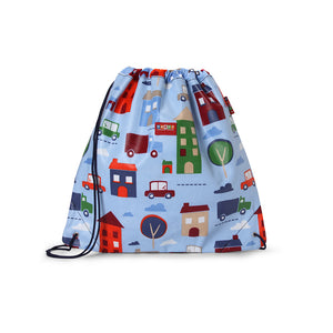 Kids Drawstring Bag with City Print