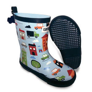 Kids Tall Patterned Gumboots