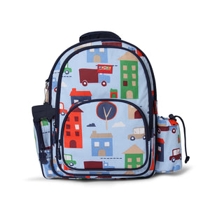 Kids Large Backpack with City Print