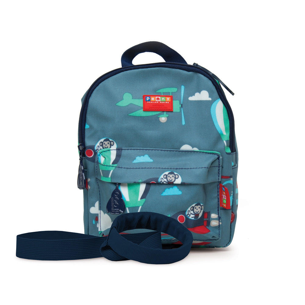 Mini Backpack with rein for kids with fun design