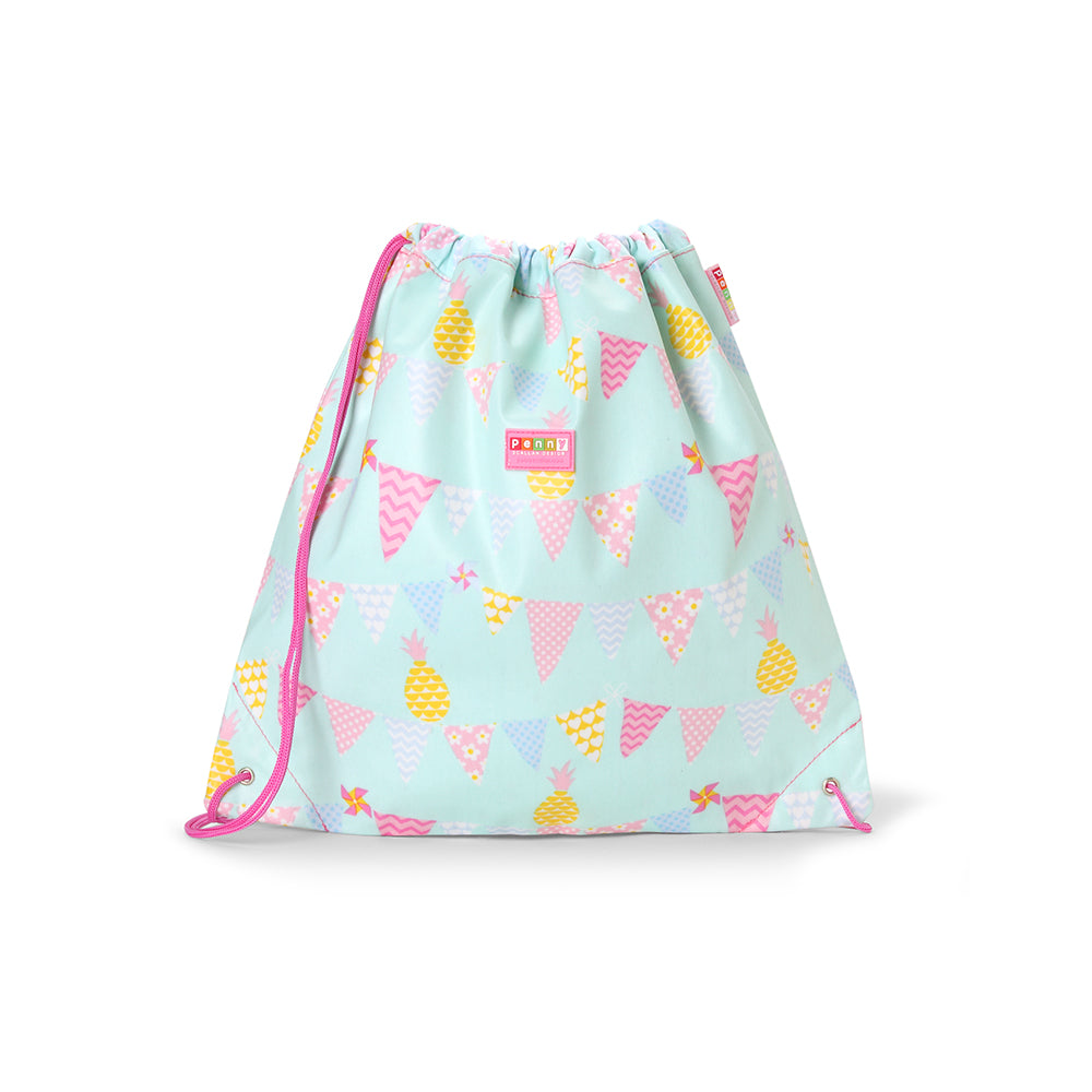 Kids Pineapple Print Drawstring Bag