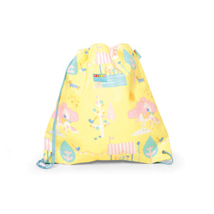 Kids Drawstring Bag with Navy Star Print