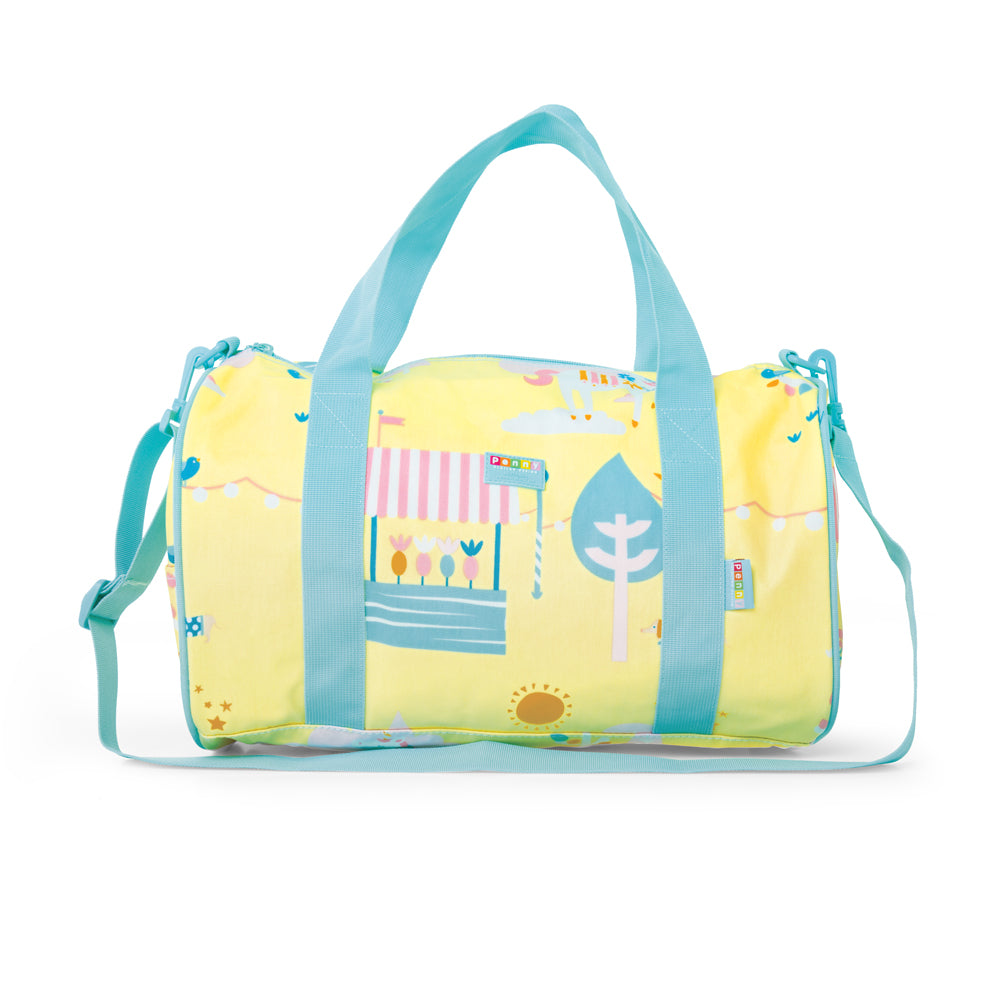 Kids duffle bag with fun print design