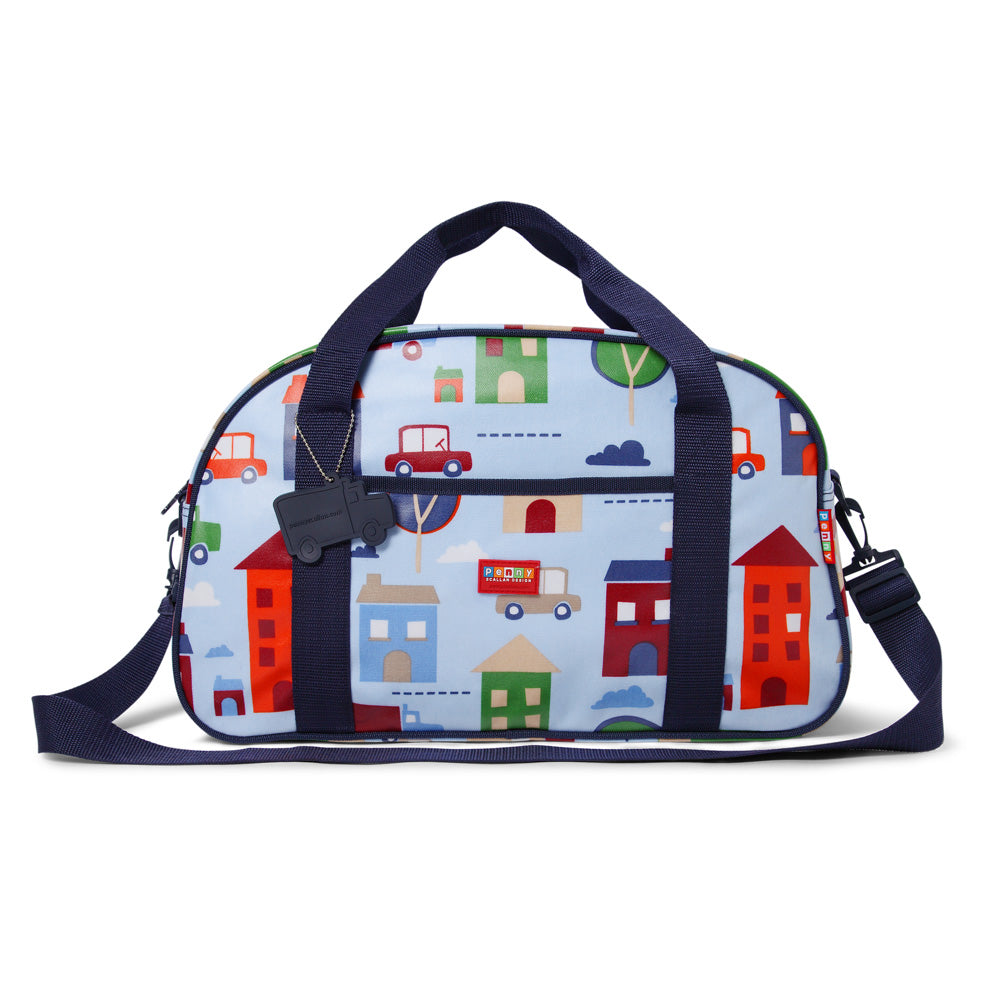 Kids Sleepover Bag with Big City Print