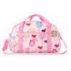 Kids Sleepover Bag with Pink Bird Print