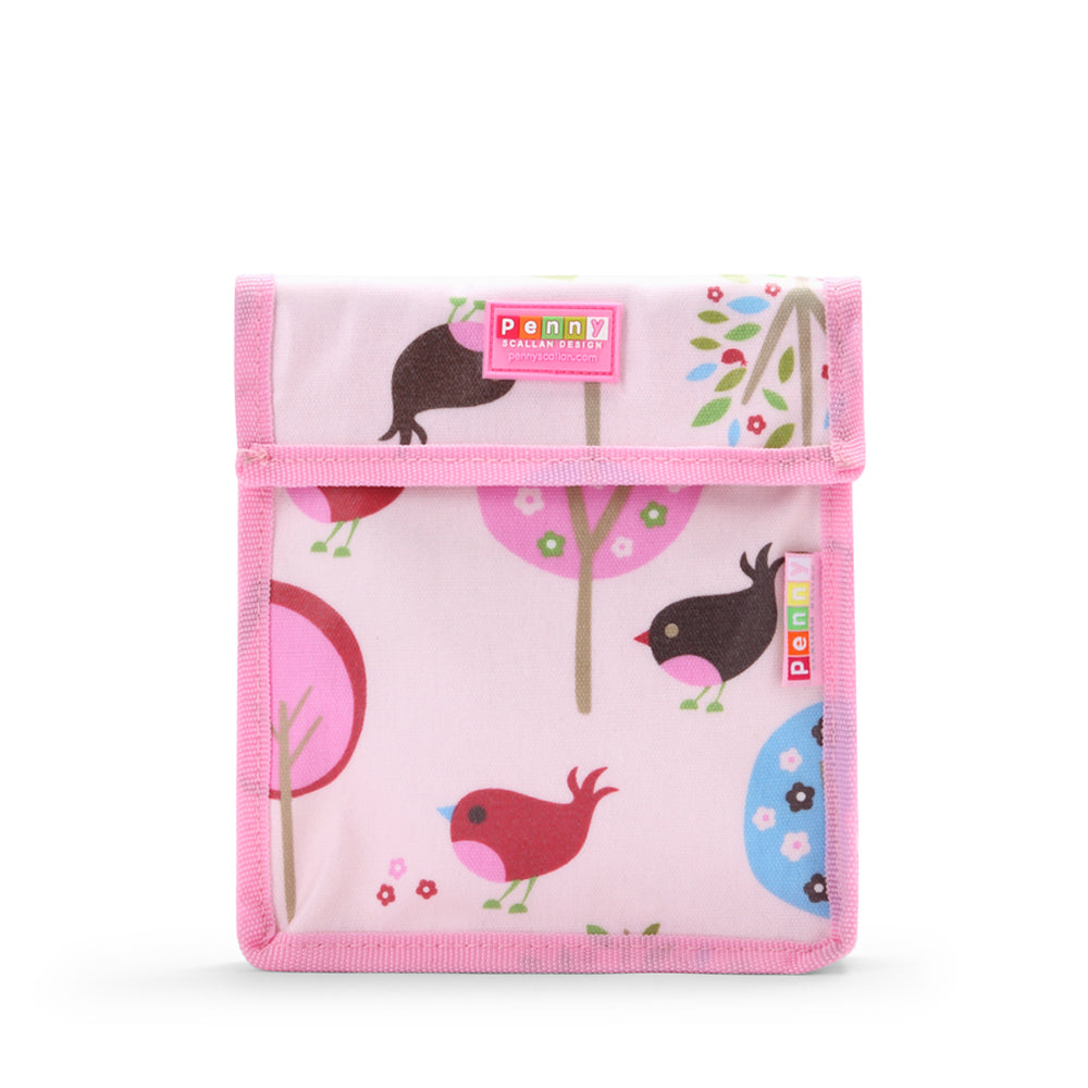 Kids Reusable Snack Bag with bird design
